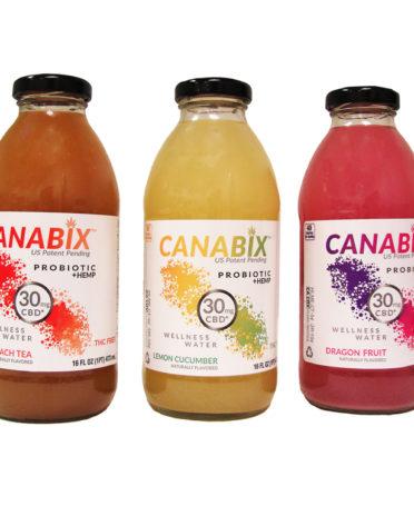 Canabix Variety Pack Wellness Water 16oz x 4 Bottles